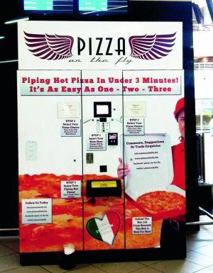 Debutul automatului de pizza.