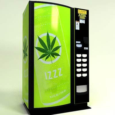 Automat cu marijuana, în California
