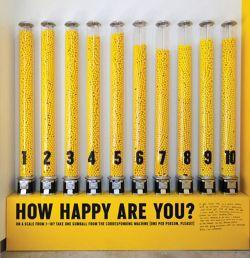 O expoziție a unui muzeu evaluează cât sunt de fericiți vizitatorii printr-un aparat de vending ce livrează gumă de mestecat