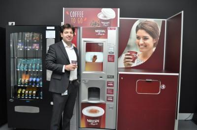 Nestlé Professional introduce plata prin SMS  pentru automatele NESCAFÉ Alegria