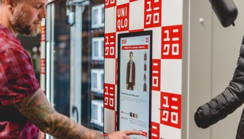 Uniqlo + vending = iubire