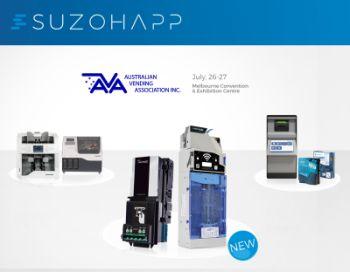 SUZOHAPP va prezenta cele mai recente inovații pentru manipularea numerarului la AVA Vending Expo