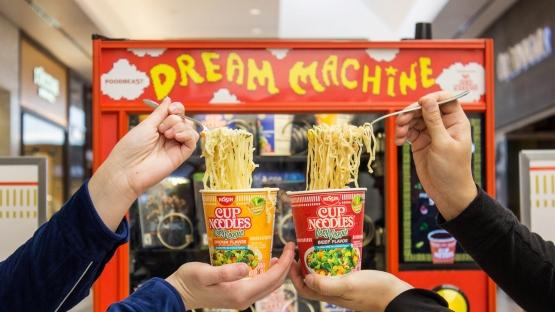 Aparatele de vending de la Nissin Cup Noodles utilizează Instagram ca monedă