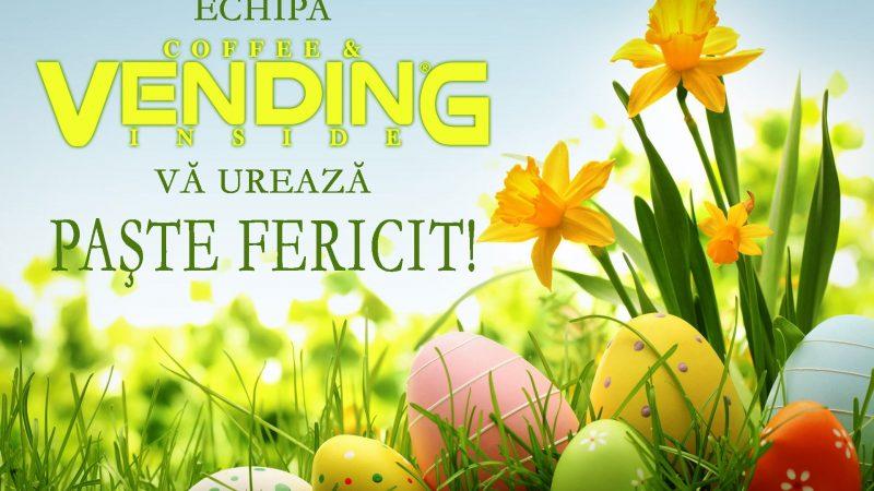 Echipa VENDING INSIDE va urează Paște fericit!