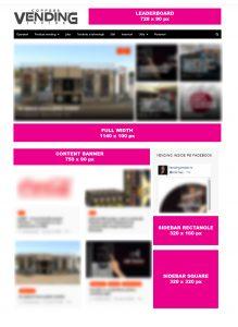 Formate de publicitate pe site-ul VendingInside.ro